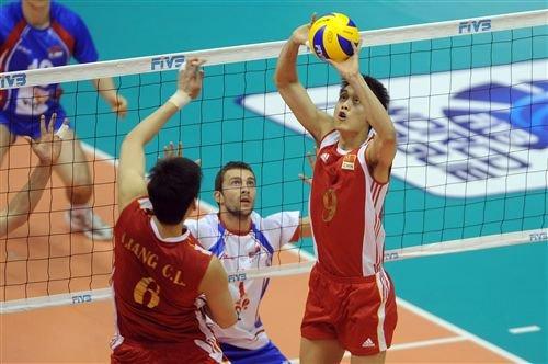 中国男排0-3负塞尔维亚 陈平狂砍20分难救主