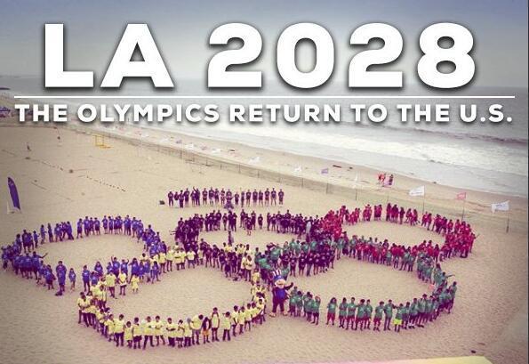 洛杉矶将举办2028年奥运会 巴黎成2024年举办地