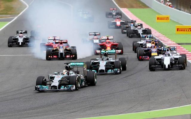 F1正西班牙站:正赛20点 法弹奏利梅奔之争白光募化
