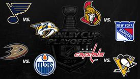 NHL季后赛第二轮对阵 首都人企鹅火星撞地球