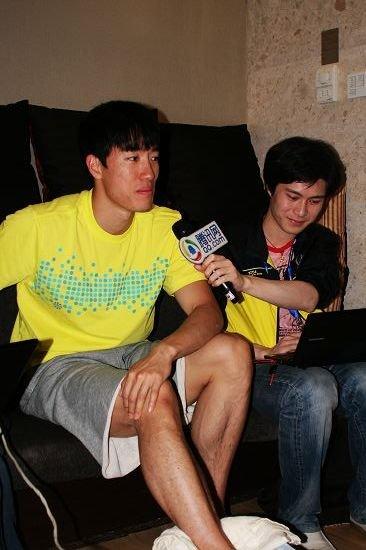 刘翔微访谈:最想变机器猫 进娱乐圈未尝不可