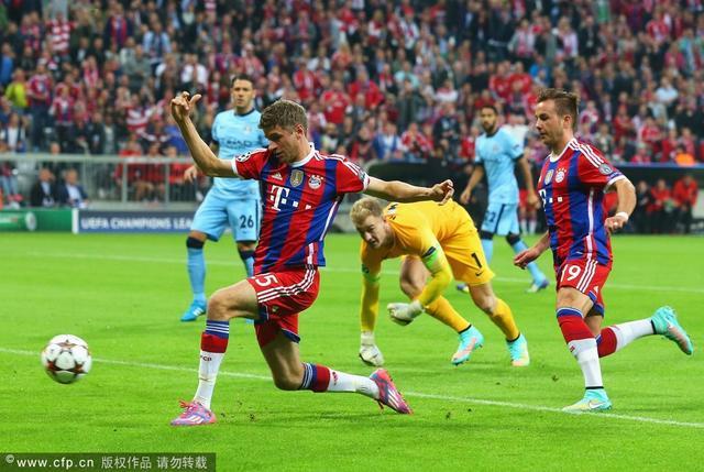 半场-拜仁0-0曼城 主队2中边网哈特3拒必进球
