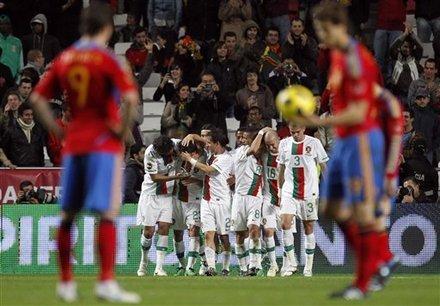 热身-葡萄牙4-0西班牙 C罗破门被吹中锋爆发