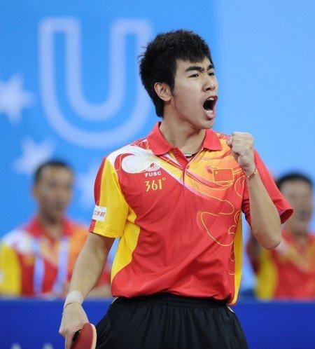 乒球男团中国3-1日本夺冠 许昕一人独得2分