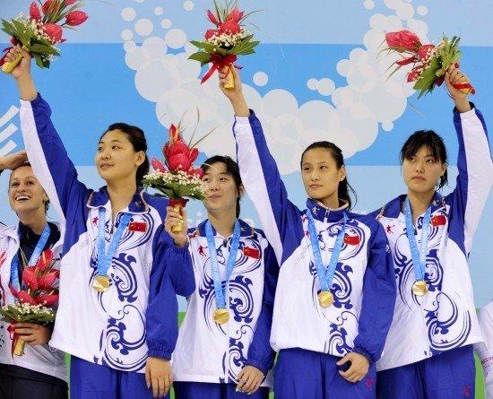 大运女4x100混接力决赛 中国问鼎破赛会纪录