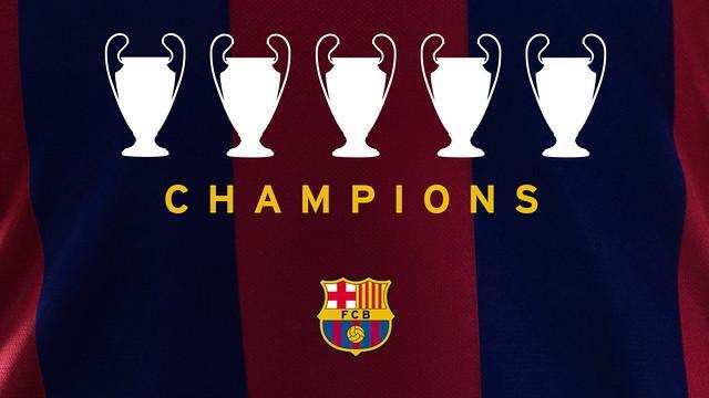 巴萨第5次夺得欧冠冠军