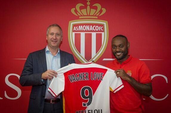 摩纳哥官方宣布勒夫加盟 前鲁能锋霸身披9号