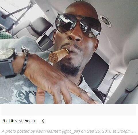 加内特IG晒惬意退役生活 叼雪茄戴墨镜他要飞