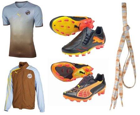 组图:PUMA力助南非世界杯 五彩装备缤纷呈现