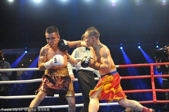 熊朝忠胜墨西哥选手 成中国首位世界职业拳王