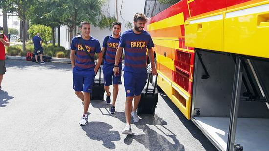 Barca and his party arrived in the US Open International Championship Tour