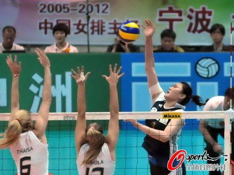 中国女排0-3遭巴西零封 总决赛2胜3负排名第4
