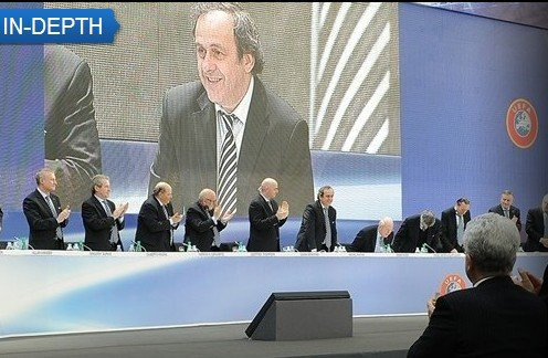 普拉蒂尼连任欧足联主席 法国传奇任期至2015