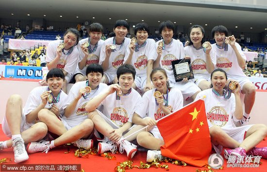 三巨头56分女篮3分胜韩国 蝉联冠军夺第11冠