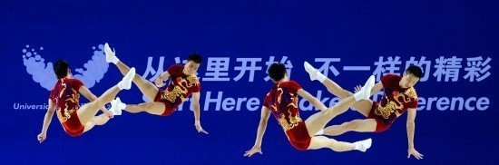 中国健美超队教练:集体操男女搭配才显美感