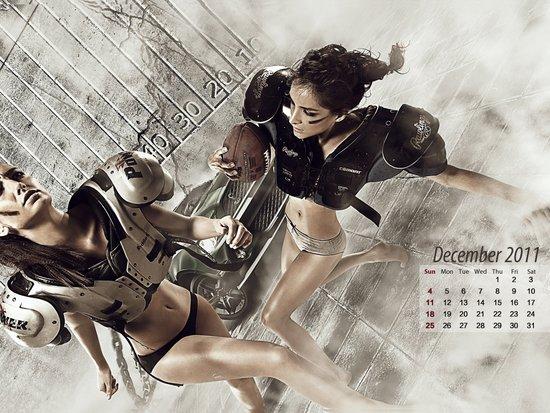《型动》第23期壁纸下载 2011年月历10-12月