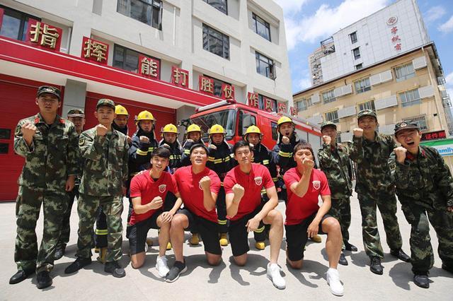颜骏凌蔡慧康受聘消防宣传形象大使 参与拍摄消防