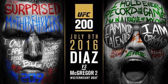 UFC200头条主赛曝光 迪亚兹VS康纳超级战上演