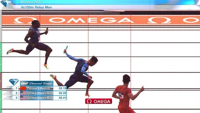 钻石联赛男子4X100中国夺冠 胜美国创赛季最佳