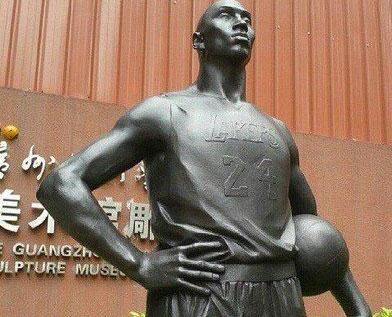 科比雕塑亮相中国 美媒感叹飞侠影响力惊人截图