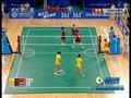 视频:女子藤球决赛第二场 中国飞身拦网未果