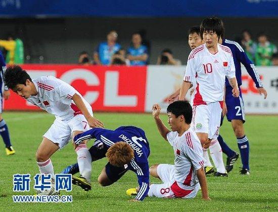 五分钟内连失两球 国奥亚运首战0-3不敌日本