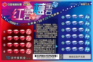 """北京福彩刮刮乐""""红宝石蓝宝石""""暖春上市"""
