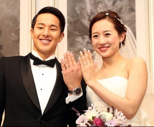 日本泳坛名牵手跳水女神 新娘乃中国归化二代