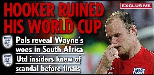 嫖妓门让鲁尼世界杯丢魂 曼联早就知他去鬼混