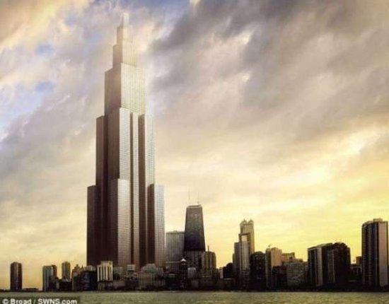 长沙世界第一高楼将建10公里天街 1楼直通170楼