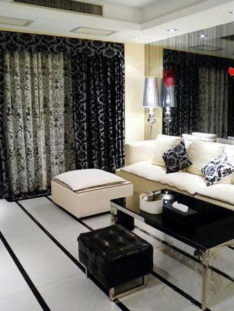黑白简约的客厅