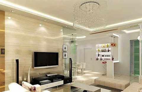 现代简约住宅装修图片 绝美电视背景墙效果图