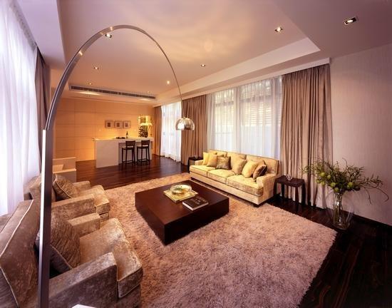三居室 128平米 客厅装修效果图 流行港式大户型客厅效果高清图片