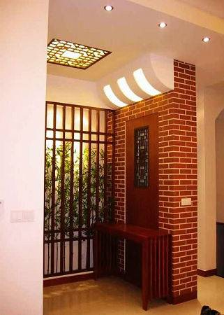 门厅吊顶装修效果图:对居室顶面作适当的装饰,不仅能美化室内环