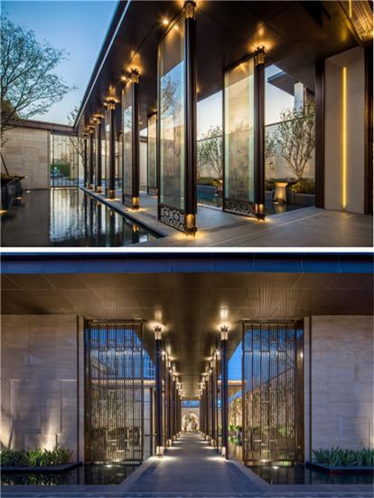 玻璃风雨连廊-探访鲁能公馆 新亚洲建筑风华 匠制臻境园林