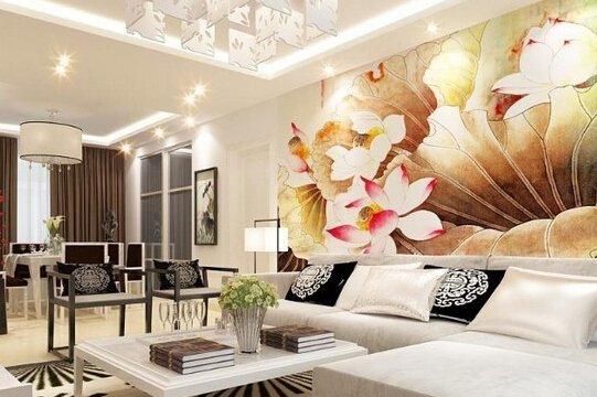 中式风格沙发背景墙效果图 打造古典韵味时尚家居
