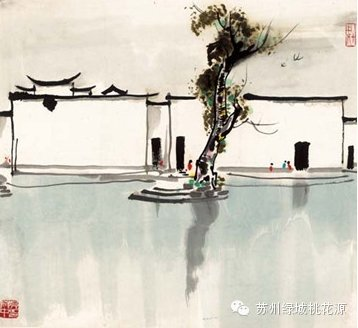 简笔画江南房屋的画法