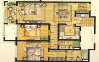 中星城际广场124�O两房两厅两卫