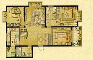 荣记玖珑湾约133平米三室二厅