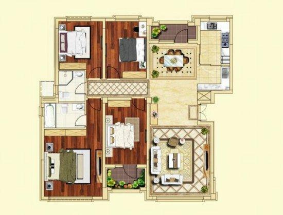 户型:四室两厅两卫 160.7平米