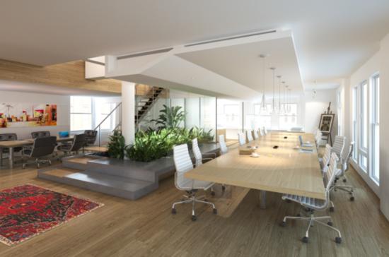 茶水吧,室内阳光花园,二楼打造成员工书吧,休息室,桌球室等创意拓展区