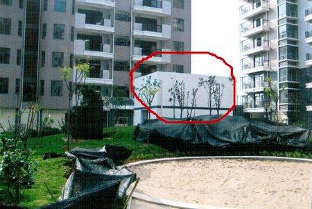 景观诉苦:网友房没交房前面又冒出个配电房纸黑白模型图纸图片