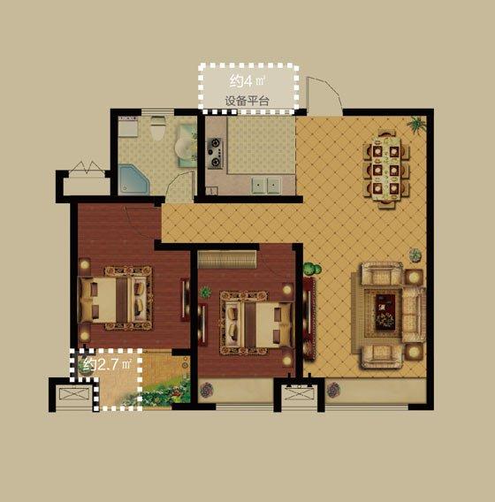 通风采光如您所愿;l型厨房设计,充足的厨艺展示空间;北书房还是北卧室图片