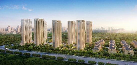御园法式景观高层规划有10幢26—28层高层建筑,建筑群雄伟恢弘图片