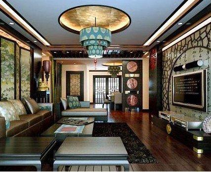 餐厅吊顶装修效果图 中式风格打造典雅潮流居室