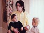 迈克尔杰克逊罕见温馨家居照