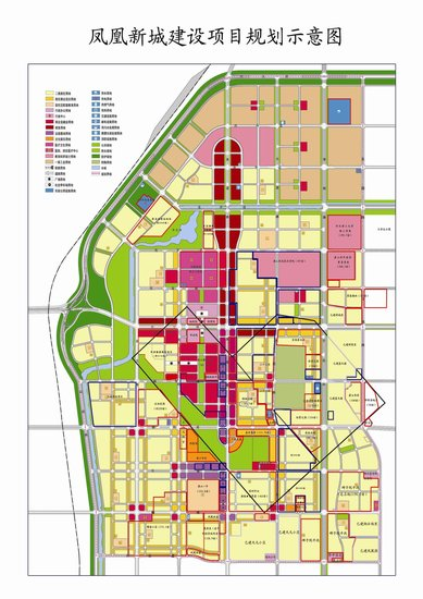 凤凰新城规划图(点击查看大图)-过年七天乐第一天 腾飞的凤凰新城