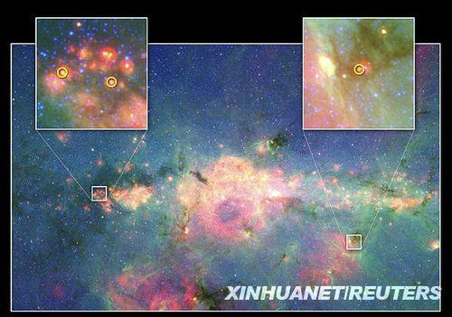 美天文学家在银河系中心观测到3颗新生恒星