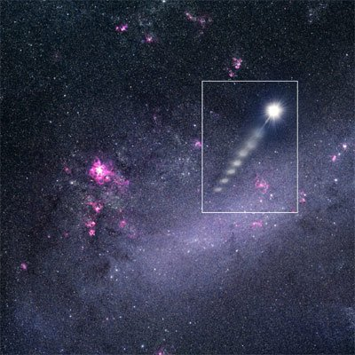 宇宙神秘黑洞造就出超高速飞行恒星(图)
