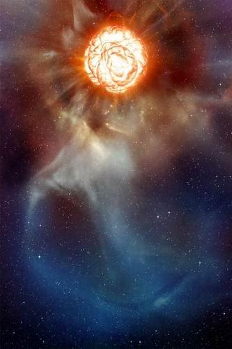 """宇宙超大恒星生命末期将疯狂""""减肥""""(组图)"""